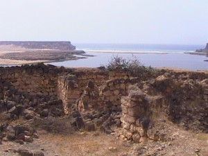 Ancient seaside fortress-Oman, So. Saudia Arabia