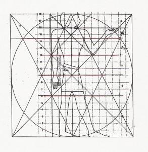 Egyptian figure inside Geometry planning