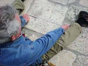 Garth Norman measures stone on Jerusalem Temple Mount 49.5 Royal Babylonian Cubit