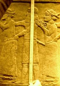 Assyrian warrior's height measures a Royal Babylonian Cubit